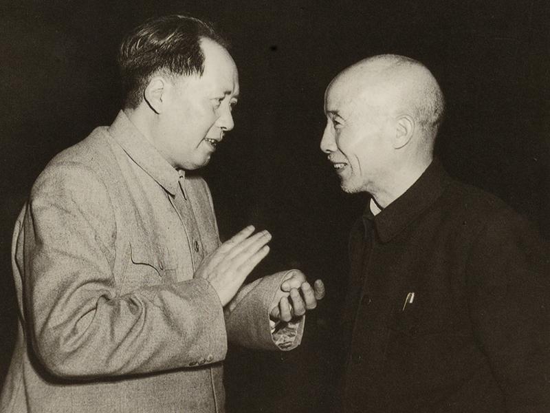 毛泽东与符定一合影(1950年6月)